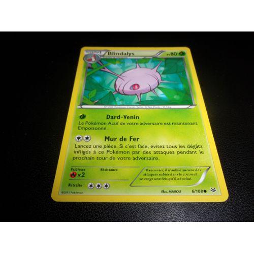 XY6:Ciel Rugissant 6//108 Blindalys Reverse Carte Pokemon Neuve Française