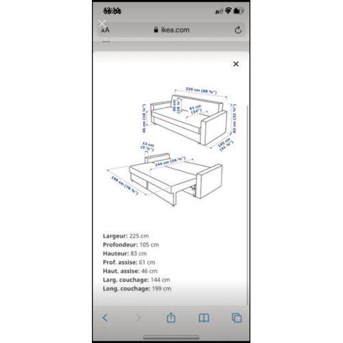 Canape Convertible Ikea Pas Cher Ou D Occasion Sur Rakuten