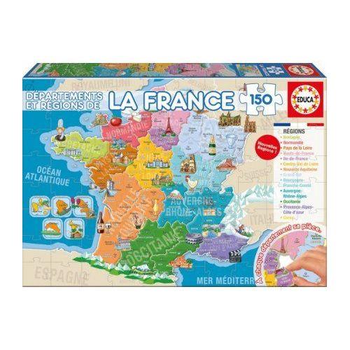 Achat Carte De France Region Et Departement Pas Cher Ou D Occasion Rakuten