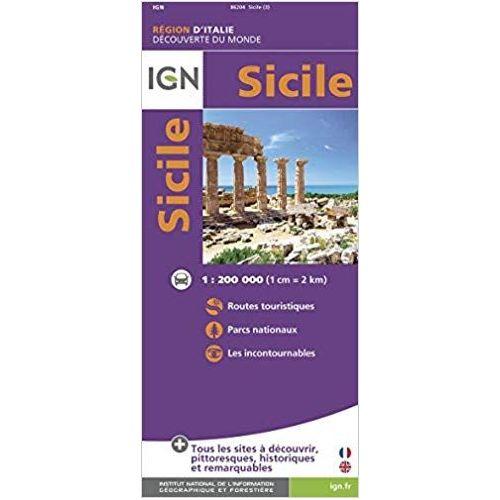 Carte Sicile.Carte De La Sicile Pas Cher Ou D Occasion Sur Rakuten
