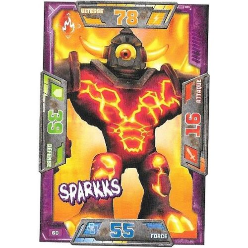 74 Lego Nexo Knights cartes de collection Ultra whiparella-Ultra carte