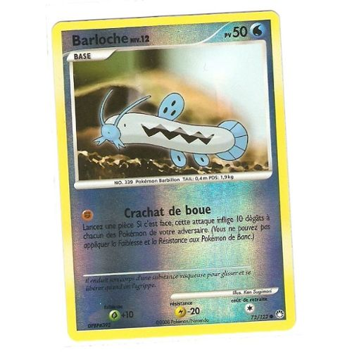 Carte Pokémon Diamant et Perle Trésor Mystèrieux 72//123 Barloche pv 50