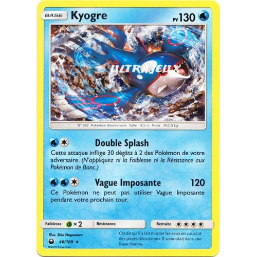 XY5:Primo Choc 53/160 Kyogre Carte Pokemon Neuve Française