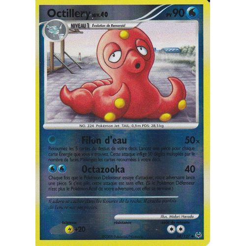 Carte Pokemon Octillery 80 pv Forces Cachées  holo !!!