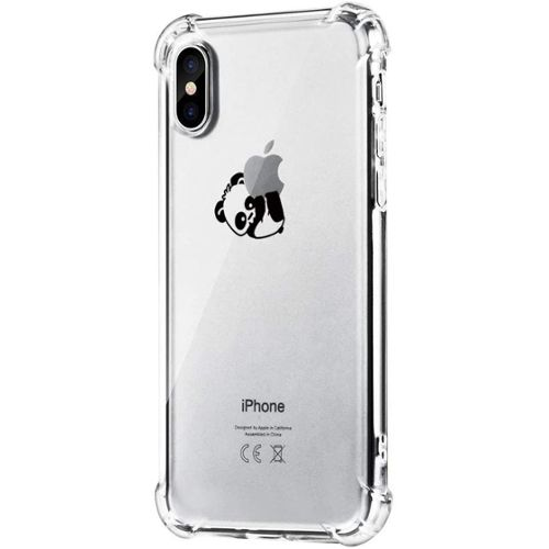 Coque iPhone XRSouple Transparent TPU Panda Coque Bumper Housse Etui pour iPhone XR