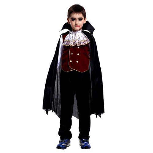 Déguisement Homme VAMPIRE Dracula Noir Rouge M//L Halloween NEUF Pas cher