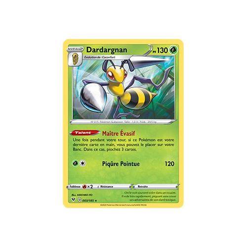 Dardargnan 120pv 3//116 Noir Blanc Glaciation Plasma Carte Pokemon Rare neuve fr