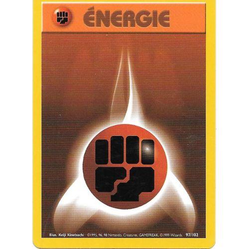 POKEMON BASE 1ed N° 102//102 ENERGIE EAU
