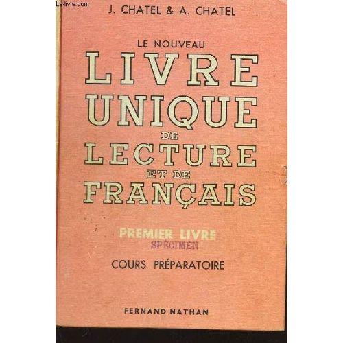 Le Nouveau Livre Unique De Lecture Et De Francais Pas Cher