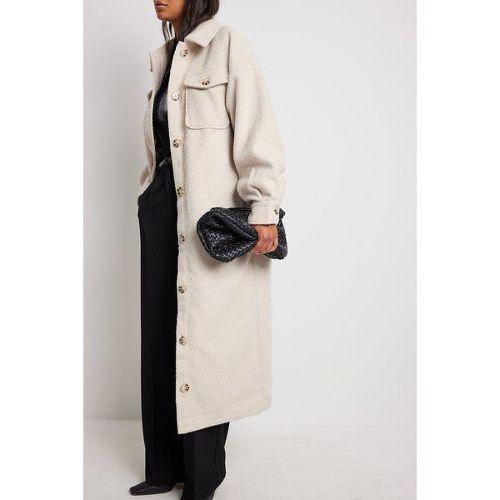 Manteau long beige pas cher