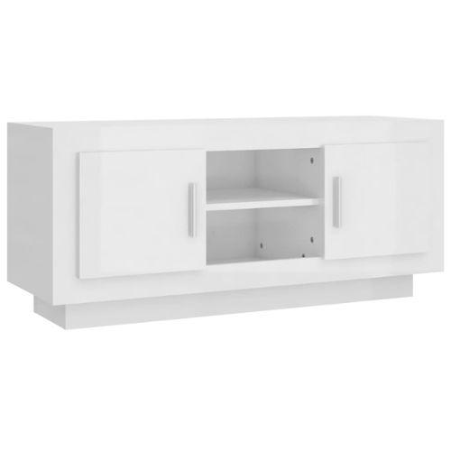 Meuble Tv Blanc Pas Cher Ou D Occasion Sur Rakuten