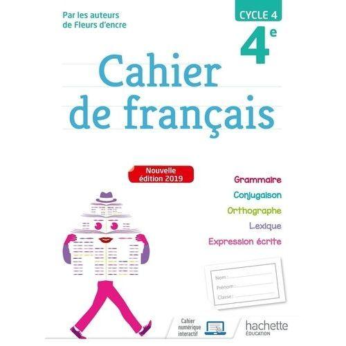 Mon Cahier De Francais 4eme Belin Pas Cher Ou D Occasion Sur