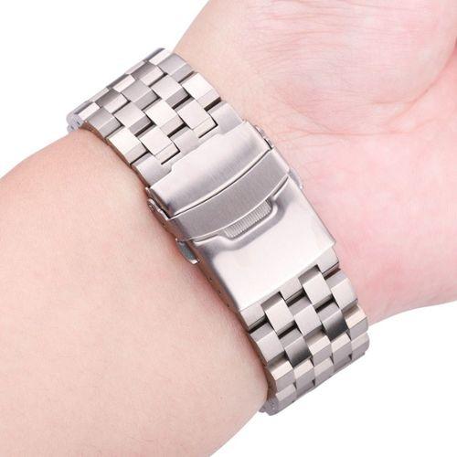 montre femme bracelet argent massif