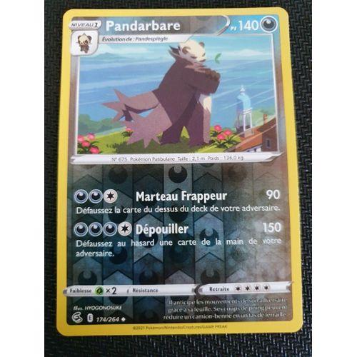Carte Pokemon PANDARBARE 94//181 RARE Soleil et Lune 9 SL9 Duo de Choc FR NEUF