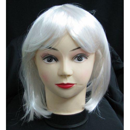 perruque blanche courte pas cher ou d'occasion