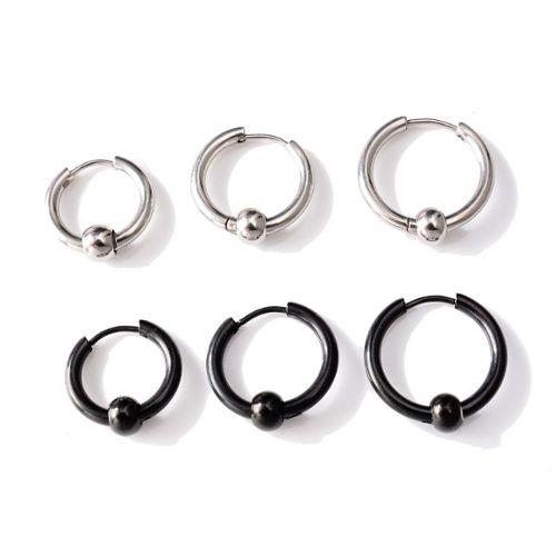 Piercing labret anneau fer à cheval boule couleur jamaïque bioflex