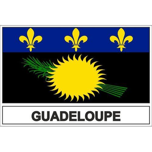 Planche A4 de stickers Département 971 j/'aime La Guadeloupe autocollant