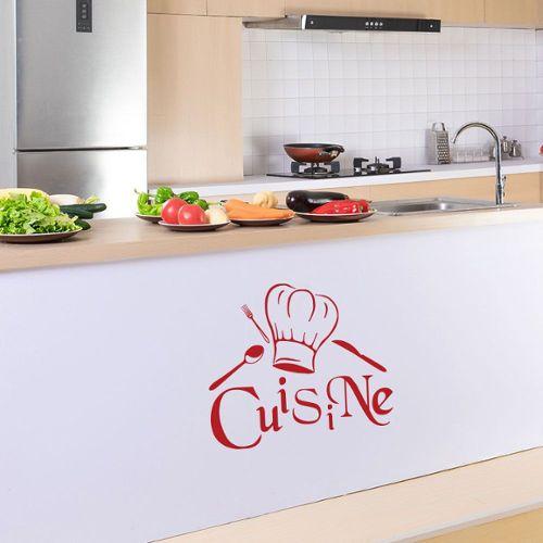 stickers cuisine rouge pas cher ou d\'occasion sur Rakuten
