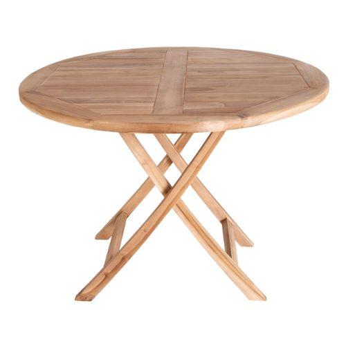 Table de jardin ronde en teck pas cher ou d\'occasion sur Rakuten