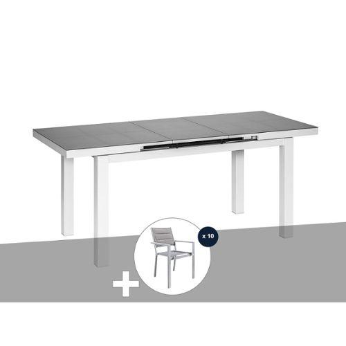 Table et chaises de jardin en aluminium pas cher ou d ...