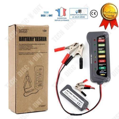 testeur de batterie de voiture Outil de test de cellule danalyseur de charge de batterie automobile Multilingue pour les voitures et les camions lourds Testeur de batterie 12V BT-360