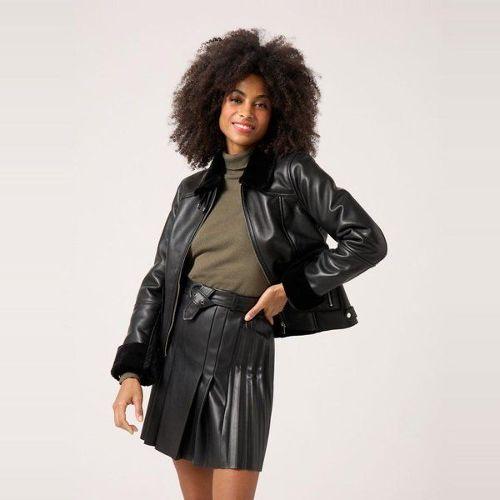 design intemporel cca9f e271f veste cuir fourrure pas cher ou d'occasion sur Rakuten