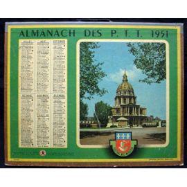 Calendrier 1951.Almanach Ptt Calendrier 1951 Paris