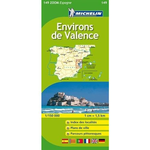 Carte Michelin Zoom Espagne.Environs De Valence Michelin Carte Zoom Espagne N 149