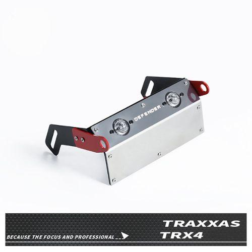 Aluminium TRAXXAS TRX-4 D90 TRX4 pare-chocs avant supérieur servo relocation Mount Noir