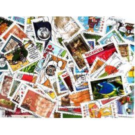 Lot de 100 timbres autoadhésifs de France oblitérés tous différents