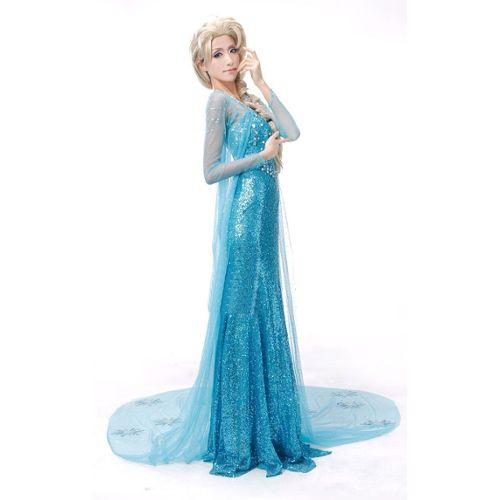 Comprenant Costume Robe Adulte Elsa Traine Blanche Deguisement De La Reine Des Neiges Frozen Personnage Princesse Adulte Rakuten