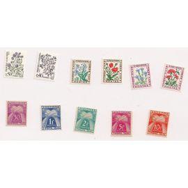 Andorre- Lot de 11 timbres neufs- Timbre Taxe