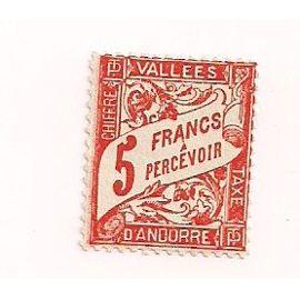 Andorre- 1 timbre taxe neuf Vallées d