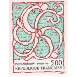 Série artistique.Oeuvre de Pierre  Alechinsky de 1985 n° 2382 Y & T