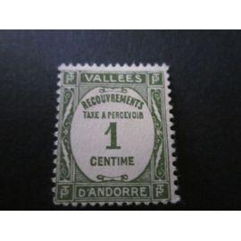 Timbre Taxe 1935.Andorre.