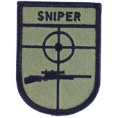 Patch ecusson brodé  backpack sniper airsoft thermocollant morale tactical