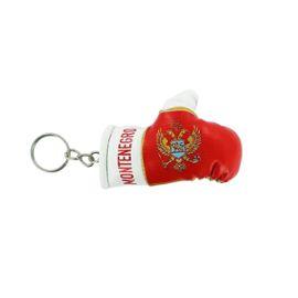 Porte cles montenegro gant de boxe drapeau flag cle clef clefs montenegrin
