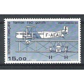 france, 1984, poste aérienne, avion bimoteur farman f 60 goliath, n°57b (impression fine de 1987), neuf.