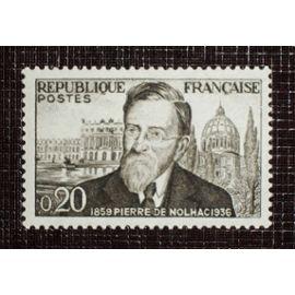FRANCE N° 1242 neuf avec charnière ou trace de 1960 - 20c noir et gris « Centenaire de la naissance de l'historien Pierre Girauld de Nolhac »