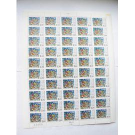 Feuille de 50 timbres du cinquantenaire du front populaire N° 2394 neuf ++