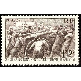 france 1941, très bel exemplaire yv. 497 - secours d