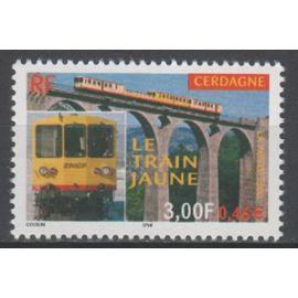 Le Train Jaune de Cerdagne . Année 2000 n° 3338 Yvert et Tellier