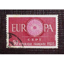 FRANCE N° 1267 oblitéré de 1960 - 50c carmin et lilas « Europa »