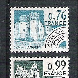 france, 1980, préoblitérés, monuments historiques, n°166 à 169, neufs.