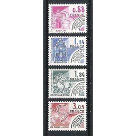 france, 1981, préoblitérés, monuments historiques, n°170 à 173, neufs.