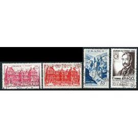 france, joli lot 1948 : 794 journée du rimbre - arago, 803 & 804 parais du luxembourg - paris, 805 vue de concques, oblit. TBE
