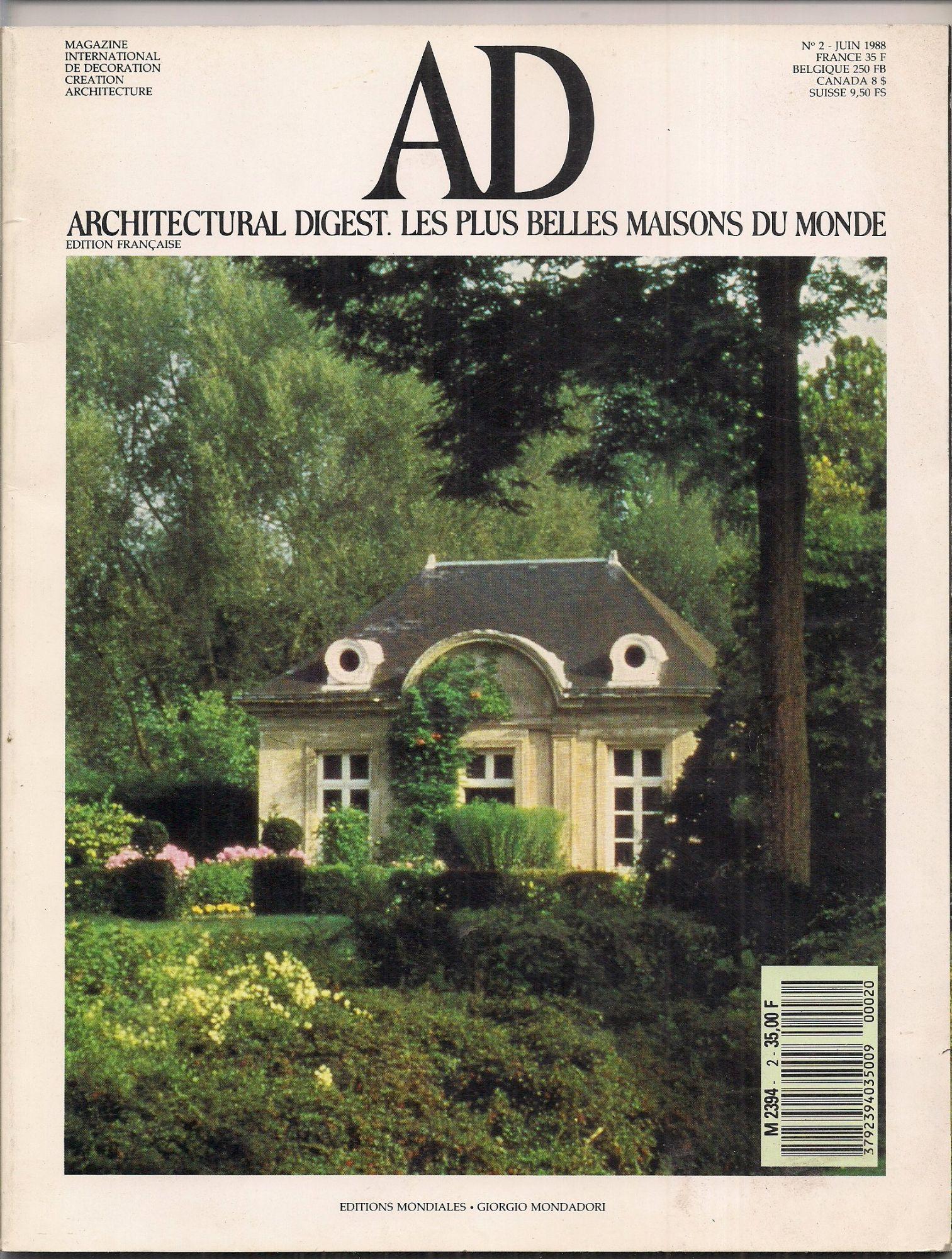 Ad Architectural Digest Les Plus Belles Maisons Du Monde 2 Rakuten