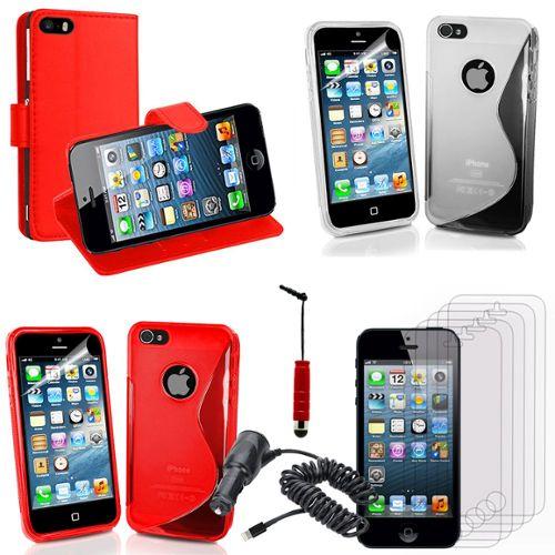 Apple iPhone 5/ 5S Lot Coque Etui Housse Pochette Accessoires ...