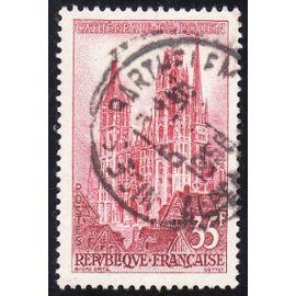 Timbre France Oblitéré n°1129 - 1957 - Cathédrale de Rouen