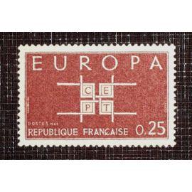 FRANCE N° 1396 neuf sans charnière de 1963 - 25c brun-rouge « Europa »